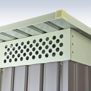 Metallgeraetehaus mit Luftzirkulation